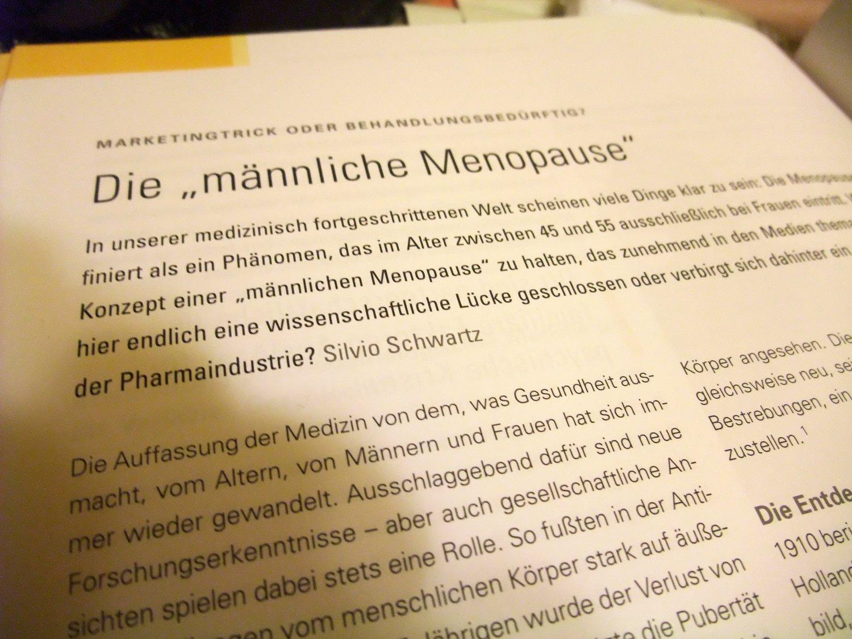 """Die """"männliche Menopause"""". Artikel in """"Die BKK"""""""